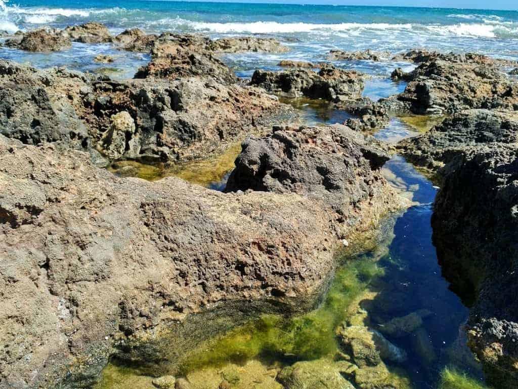 sea stones malia crete beach