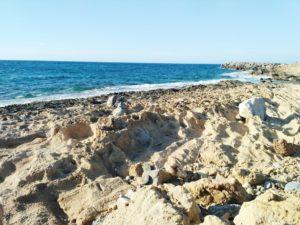 beach malia crete greece