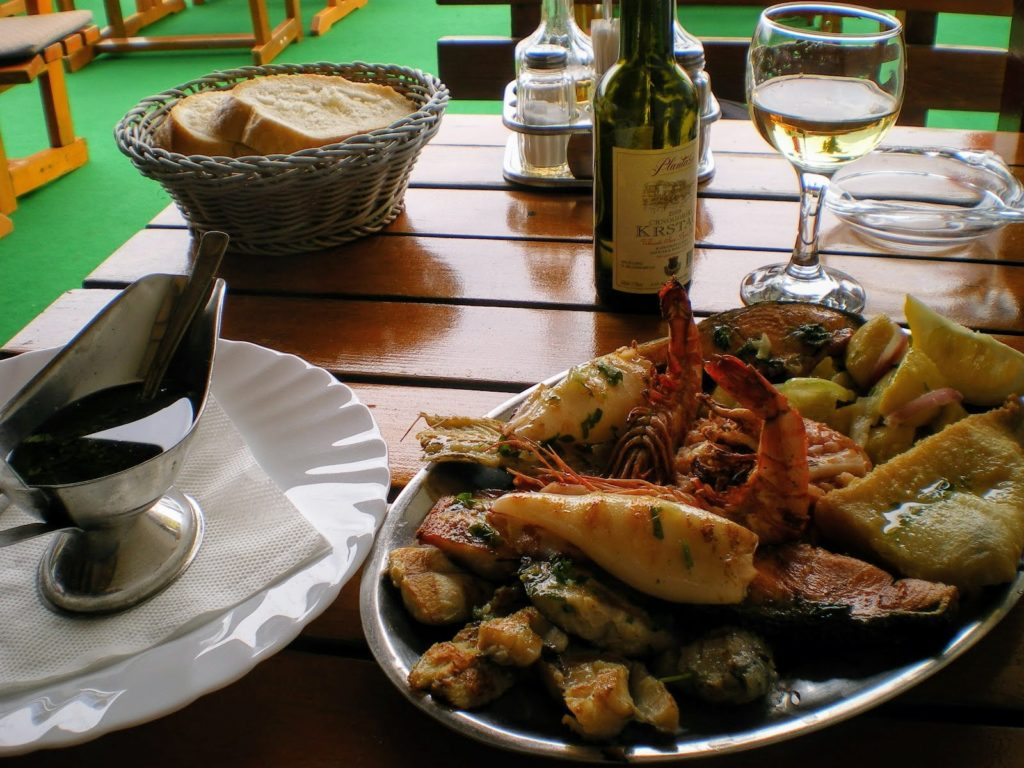 Seafood in Budva
