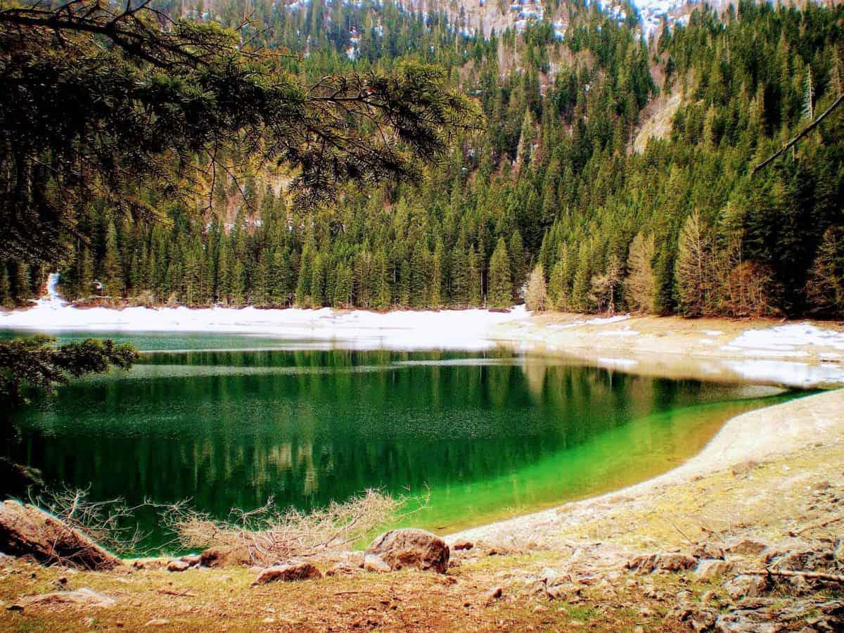crno jezero best places in montenegro black lake green water