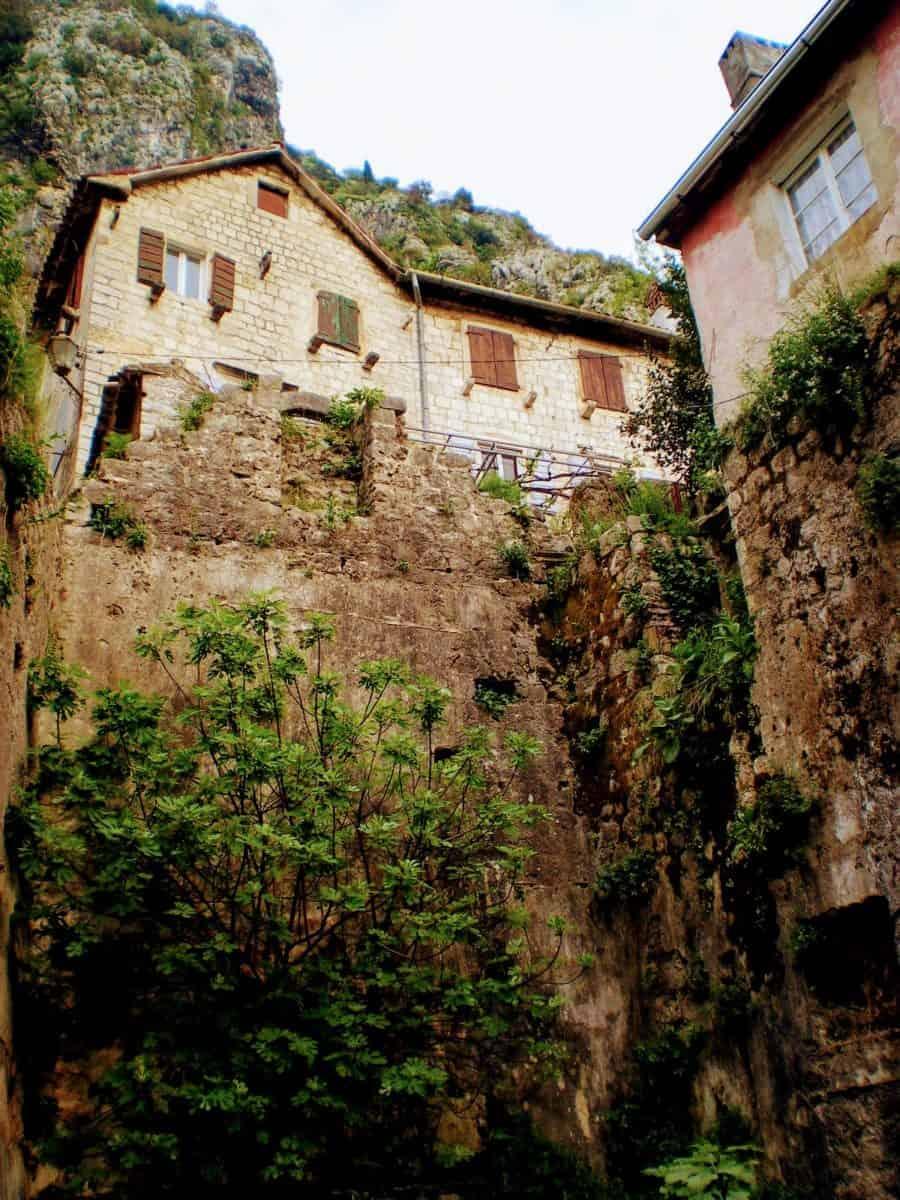 kotor montenegro mountain houses