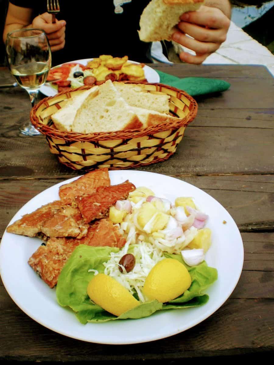 fish skadar lake montenegro lunch