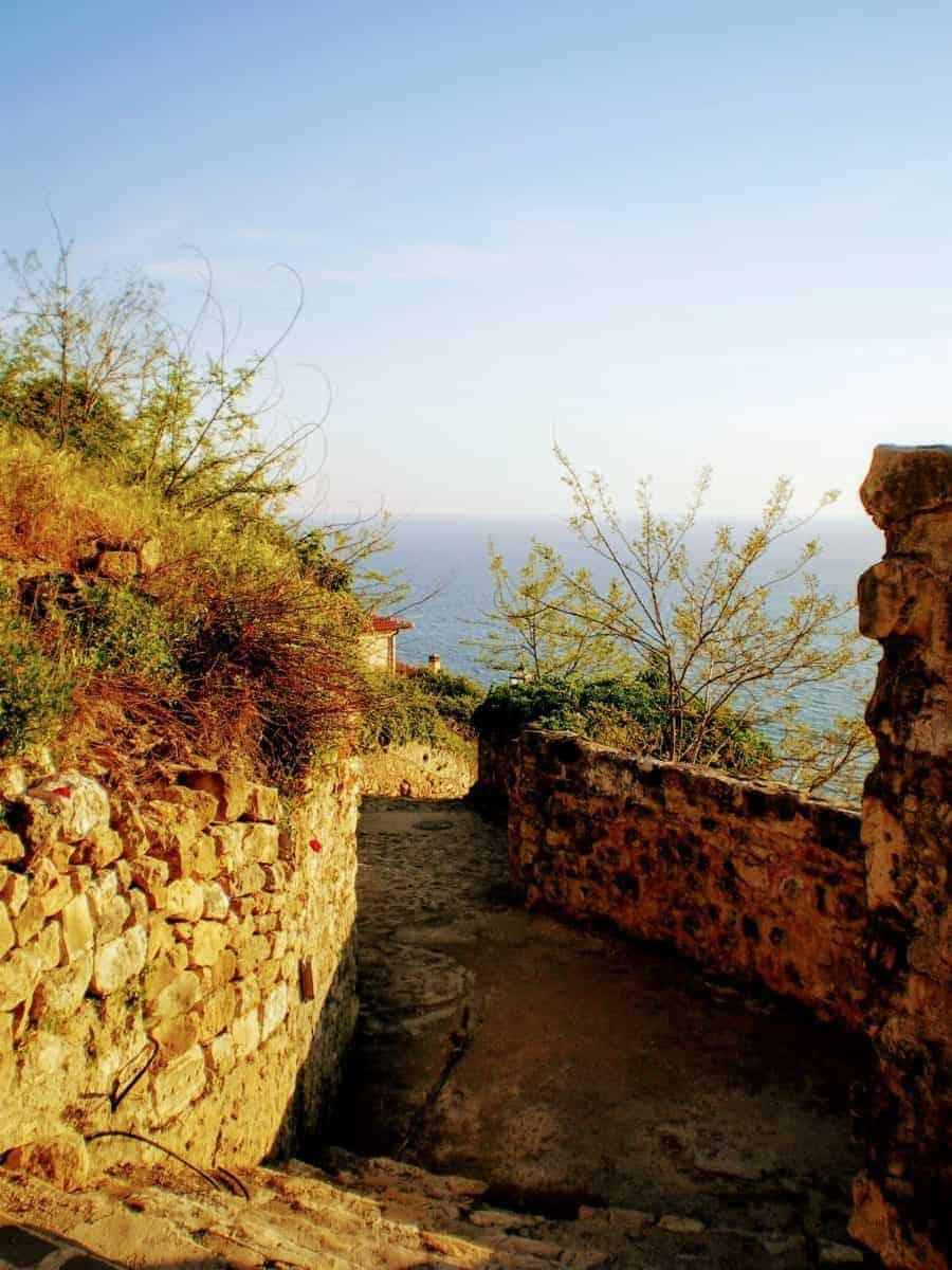 ulcinj staircase montenegro sea