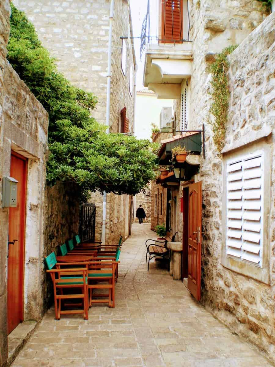 budva montenegro street cafe