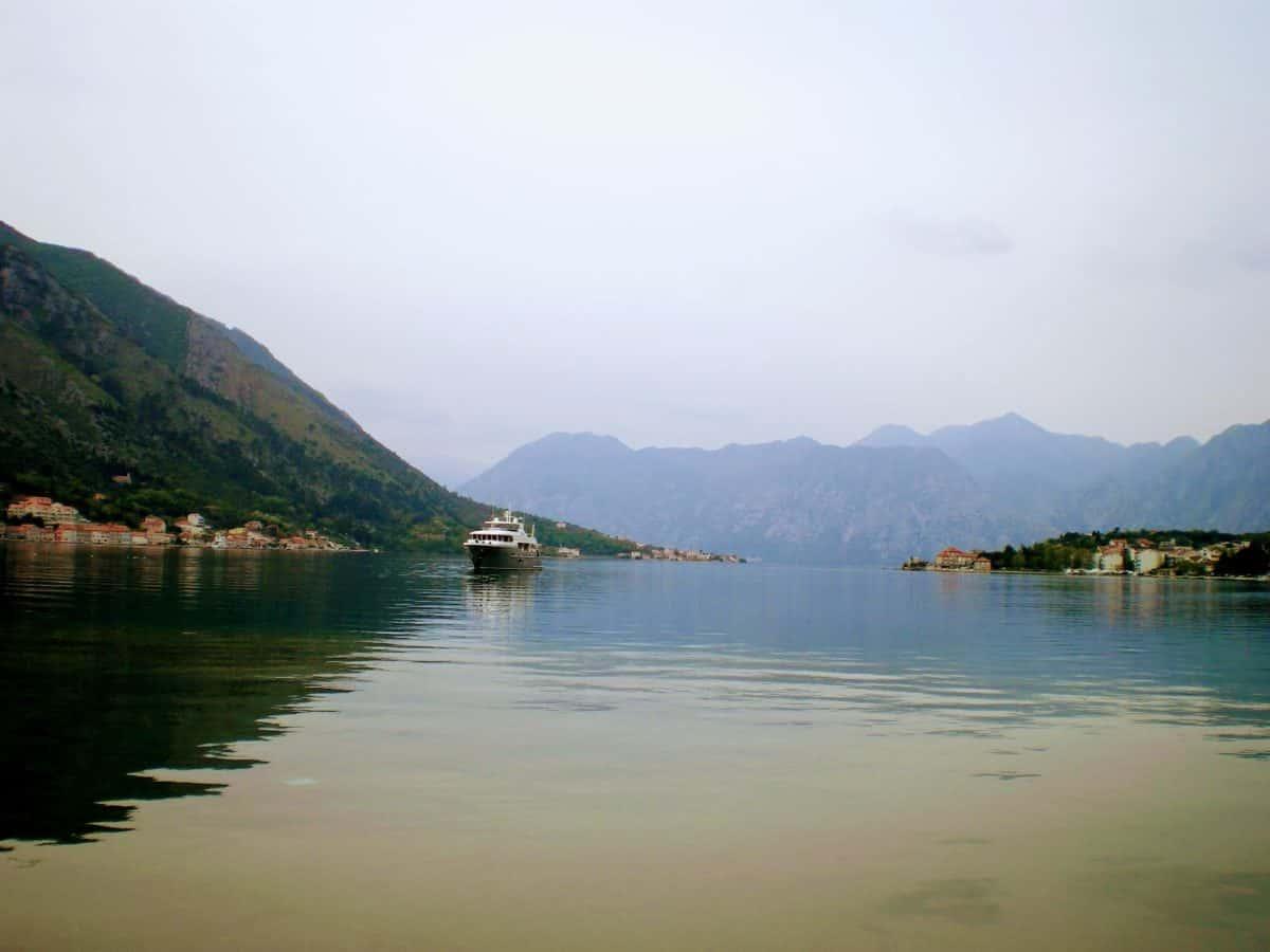 kotor montenegro bay ship