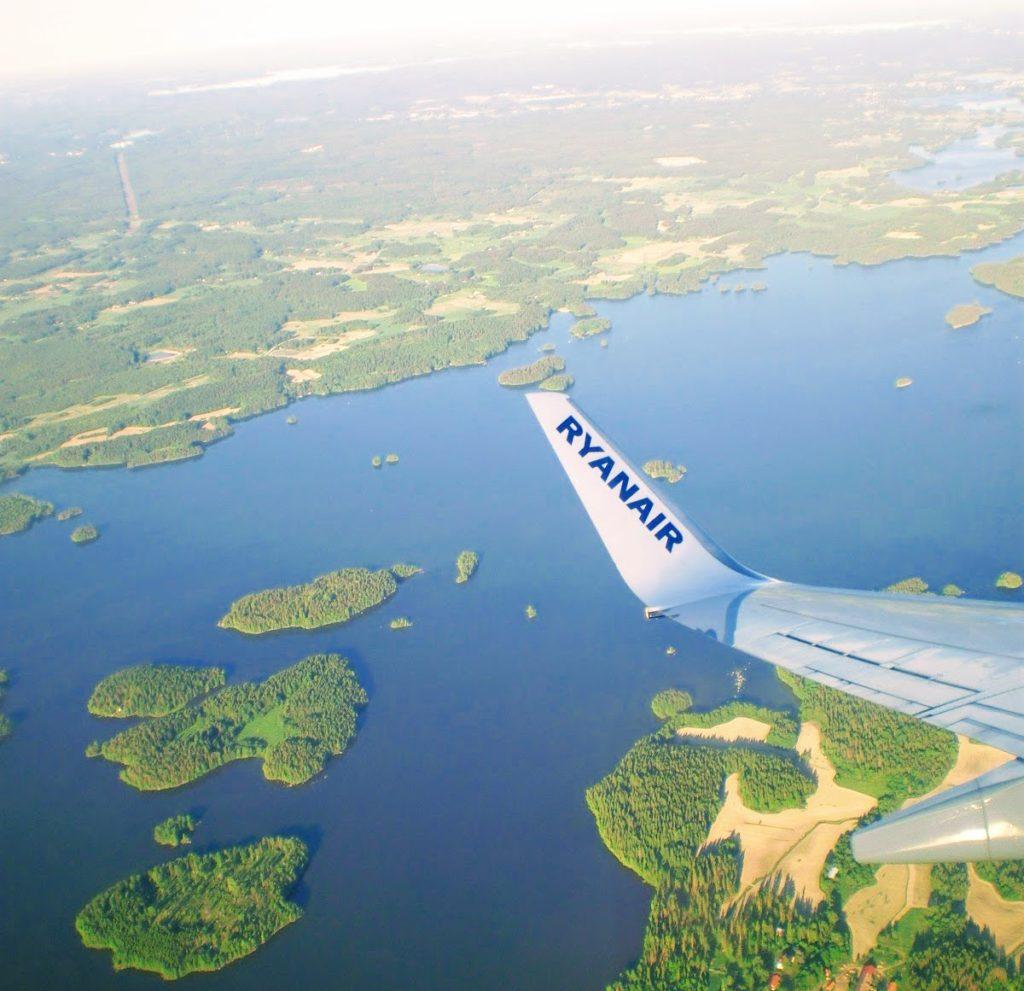 Ryanair above Finland