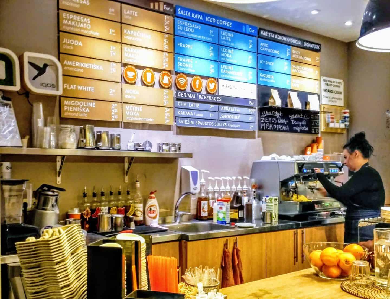caffeine cafe vilnius
