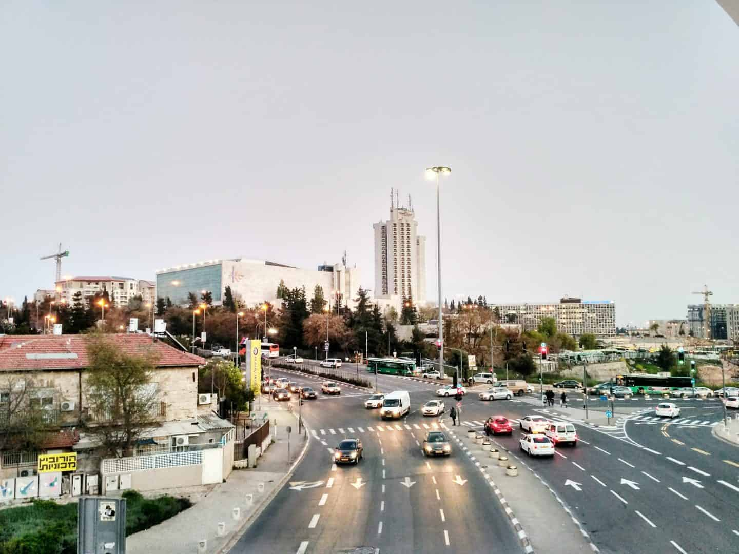 View from the Chords Bridge, Jerusalem