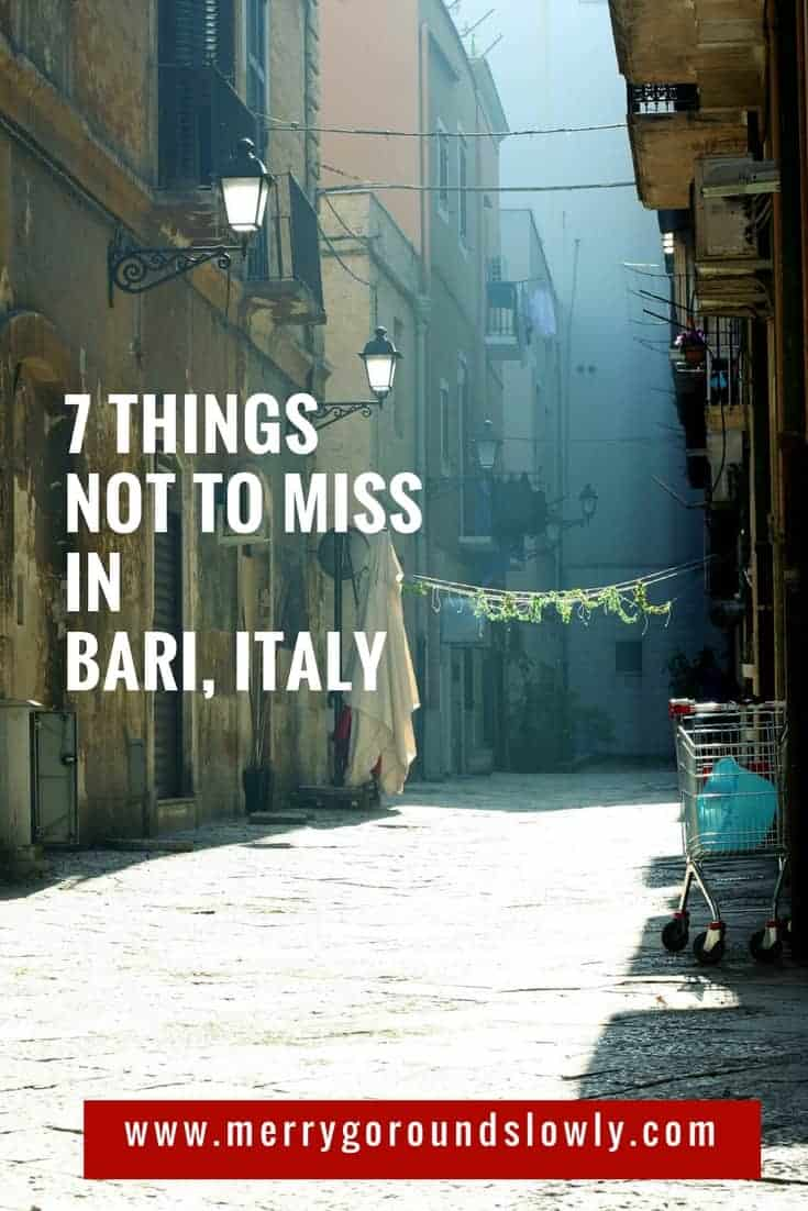 best things to do in bari italy | apulia | bari italy itinerary | puglia | basilicata | where to go in italy | travelers guide to italy | cutest towns in italy | what to see in italy | must see spots in italy | where to stay in italy |  what to do in italy | what to avoid when in italy | visit europe | bari italy |  visiting italy | cutest places in europe | planning your italy trip | travel guide for italy | #traveleurope #matera #traveltips #travelitaly #visitbari