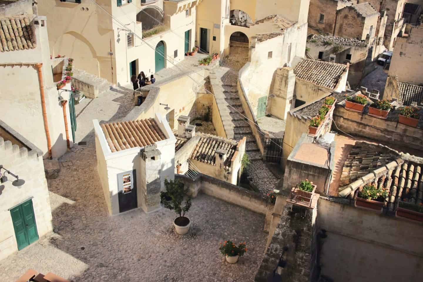Matera yards from above