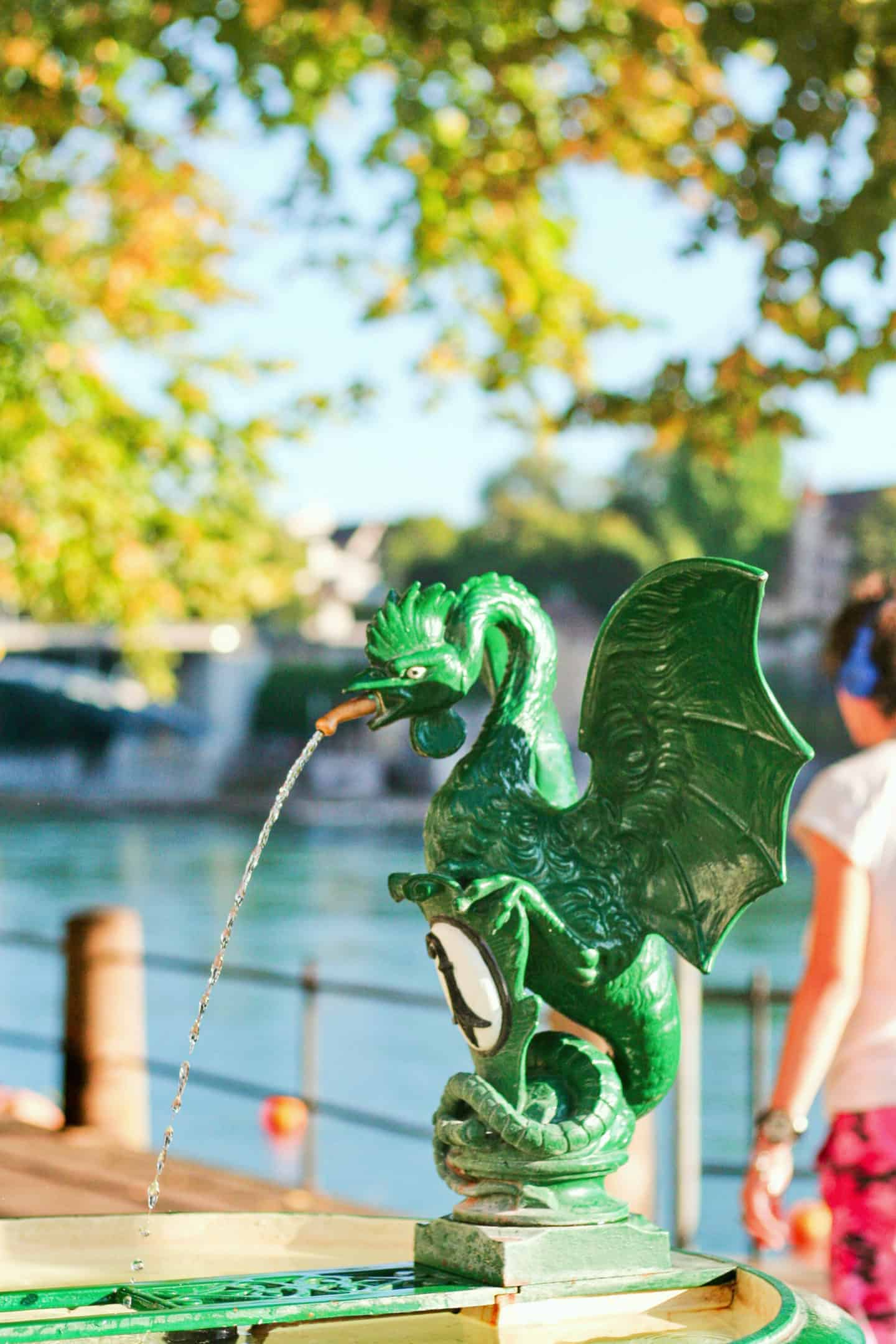 Basilisk water fountain in Basel
