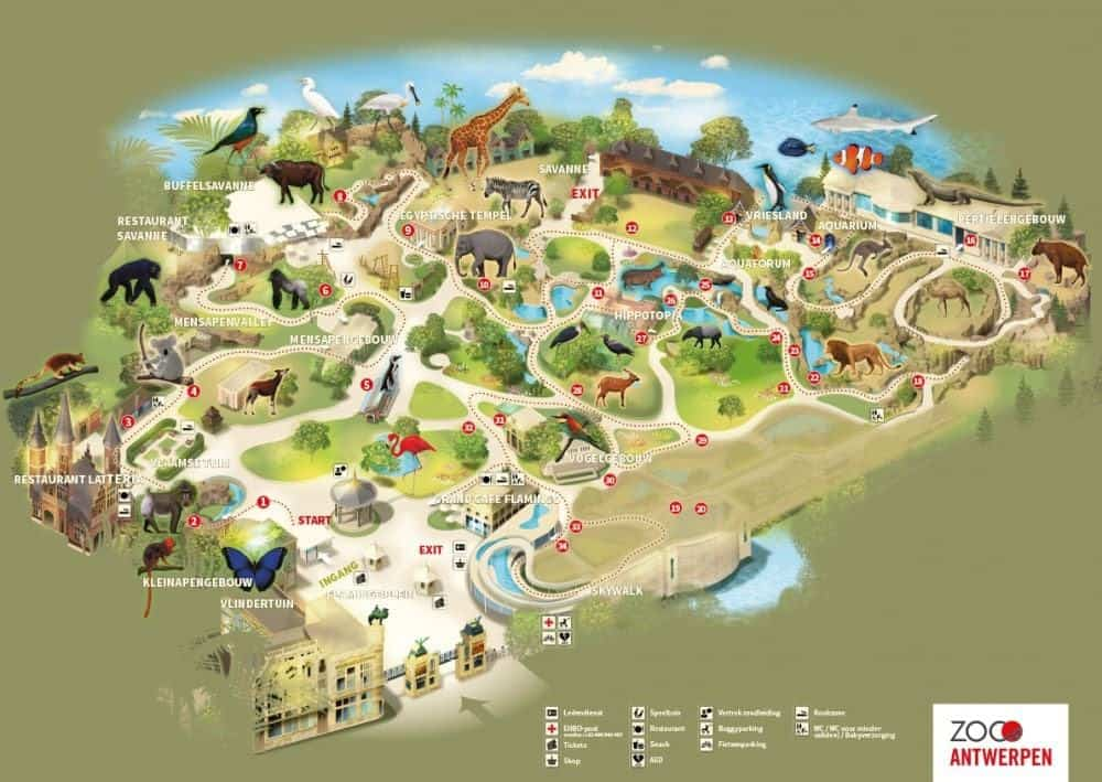 antwerp zoo map